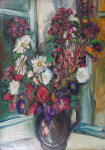 Linda Liskova - Bouquet at the window