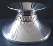 Round low silver candleholder - Wilkens