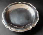 Round silver bowl, on the legs - Maison Cardeilhac