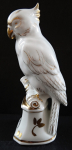 White and gilt porcelain parrot