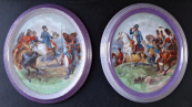 Two porcelain plaques with Napoleon - Carl Knoll