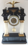 Biedermeier column clock, with eagle