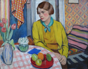Rudolf Vejrych - Woman at the table