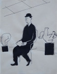 The man in the exhibition hall