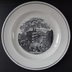 Plate with the motif of the railway station in Prague