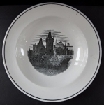 Plate with the motif of Mala Strana Bridge Tower - Altrohlau