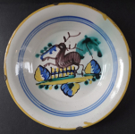 Faience plate with deer