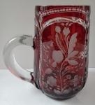 Ruby mug with cut flowers