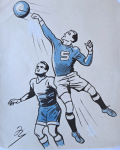 Marcel Niederle - Football goalkeeper with a ball