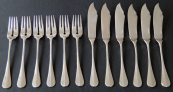 Fish cutlery for six people - Franz Bibus