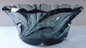 Large bowl of smoke glass - art deco