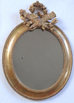 Oval gilded mirror, Rococo - France