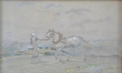 Jaroslav Honzik - Girl with a horse