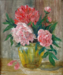 Unsigned - Peonies in Vase