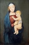 Monogram A. R. 1896 - Madonna with child