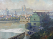 Josef Steinsky - View of Hradcany, from Novotny footbridge