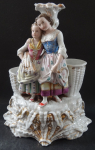 Figural candlestick, with woman and girl - Harvest