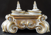 Low inkwell, in rococo style