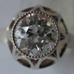 Ring of white gold - brilliant 1,20 ct