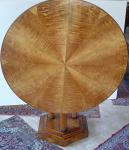 Round, ash, salon table, folding - biedermeier