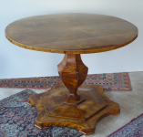Biedermeier salon table with folding plate