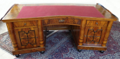 Large writing desk and bookcase - Art Deco