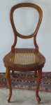 Chair Louis-Philippe, with woven seat