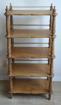 Shelf stand made of softwood