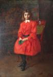 Geza Peske - Girl in red dress