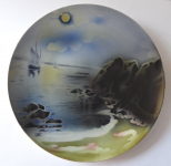 Decorative plate with sailboat and cliffs - Villeroy & Boch