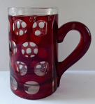 Pitcher with cut wheels and ruby staining