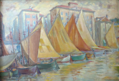 Jaroslav Hruska - Sailing yacht in the French port