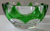 Small bowl with green glass - Moser
