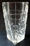 Cut, prismatic, clear vase