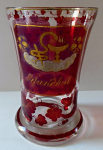 Goblet with emblems of happiness, health and friendship