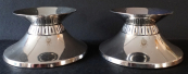 Two low silver candlesticks - Wilkens, model 8117