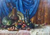 Fritz Baum - Still Life with Fruit and Jug