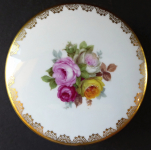 Round box with colorful roses - Rosenthal