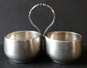 Silver bowls for salt and pepper - Warsaw, Poland