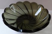 Smoke glass bowl - higher edge