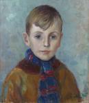 Portrait of a boy with a scarf
