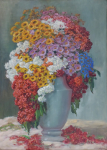 Karel Schadt - Colorful flowers in vase