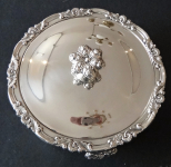 Biedermeier silver bowl, with lid - , Stephan Mayerhofer, Vienna