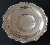 Round silver bowl, low legs - Gregio Rino, Padova