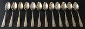 Twelve silver plated spoons