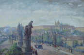 Jan B. Placek - Charles Bridge and Prague Castle
