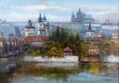 Emanuel Bakla - View of Mala Strana and Hradcany