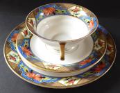 Cup with dessert plate, art deco - Königszelt, Germany