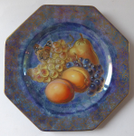 Decorative plate with fruit and butterfly - Rosenthal