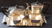 Tea and Coffee Set, Monfort, E.P.N.S. - silver plated